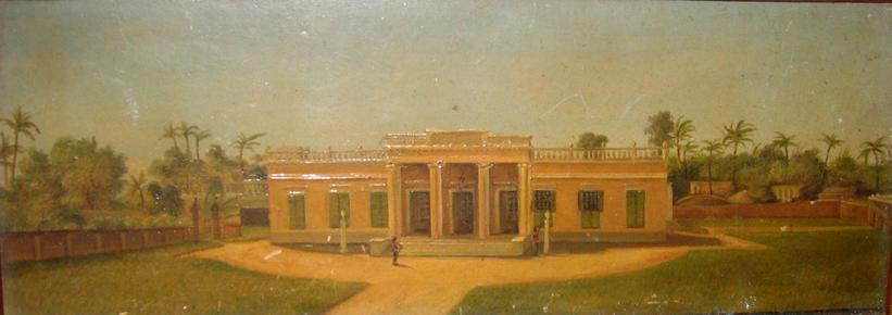 Government House. Maleri af Mary Hohlenberg, c. 1830, udsnit. Museet for Søfart