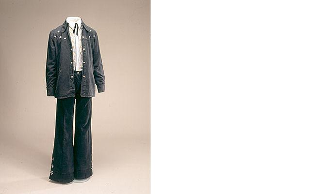 Konfirmationstøj i cowboystof, 1975